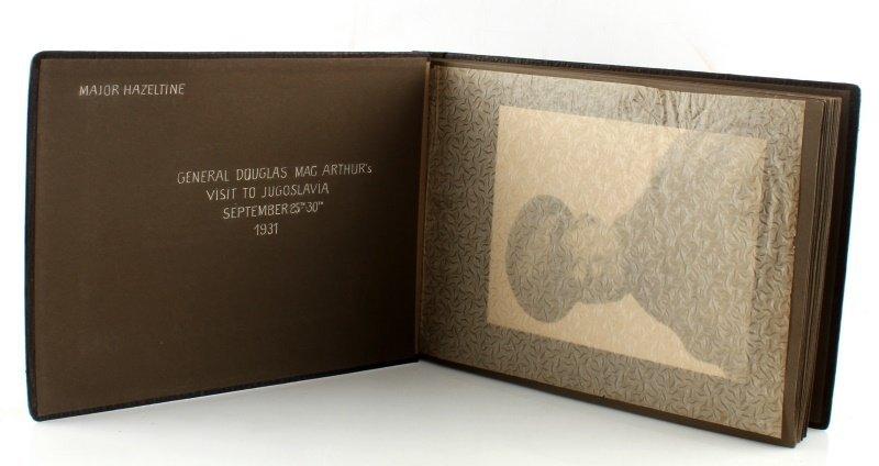 DOUGLAS MACARTHUR 1931 YUGOSLAVIA RARE PHOTO ALBUM