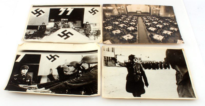 4 PIECE LOT WWII GERMAN 3RD REICH MILITARY  PHOTOS