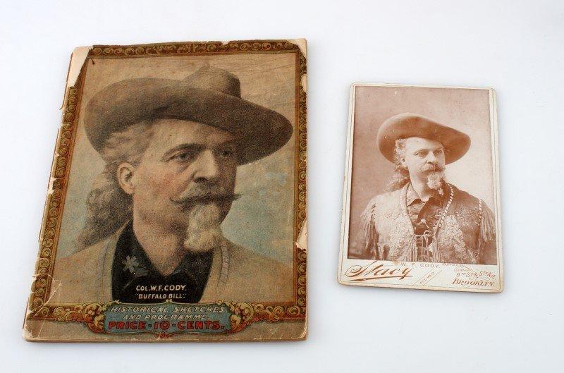 BUFFALO BILL CABINET CARD PHOTOGRAPH & PROGRAM