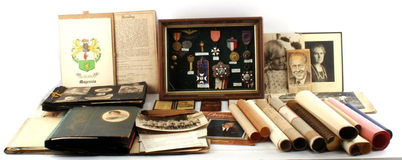 WWI PILOT ARCHIVE MEDALS & ORDERS PRES OF GOODYEAR