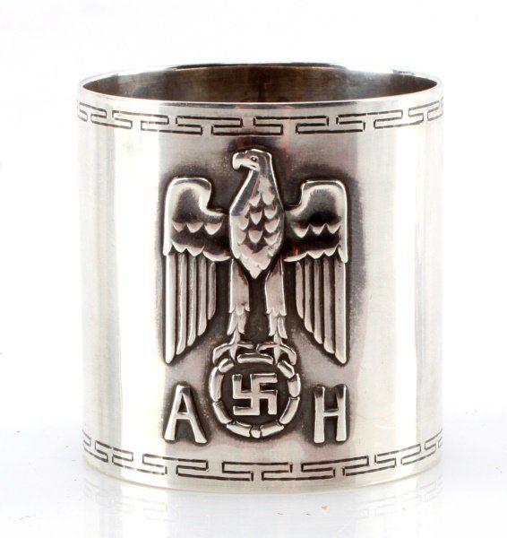 WWII THIRD REICH GERMAN ADOLF HITLER NAPKIN RING