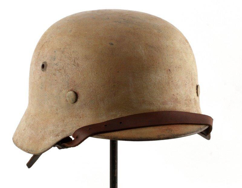 GERMAN WWII M35 HELMET TROPICAL DENAZIFIED