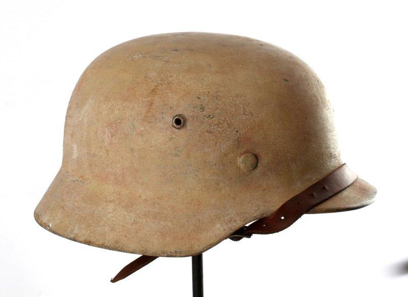 GERMAN WWII M35 HELMET TROPICAL DENAZIFIED - 2