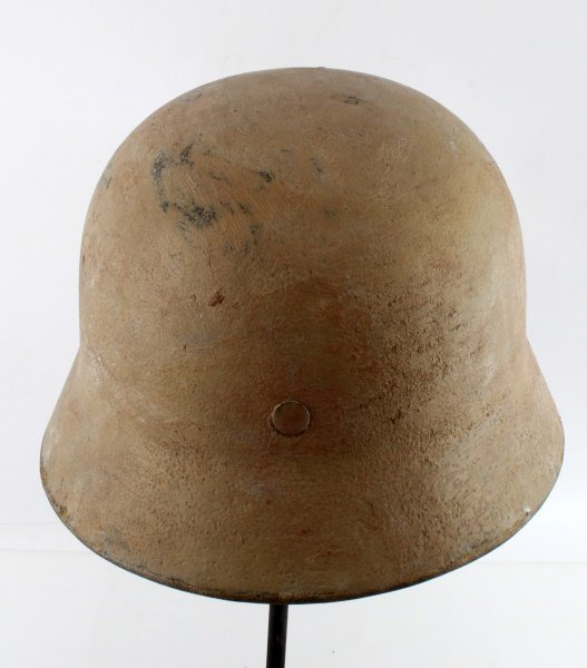 GERMAN WWII M35 HELMET TROPICAL DENAZIFIED - 4