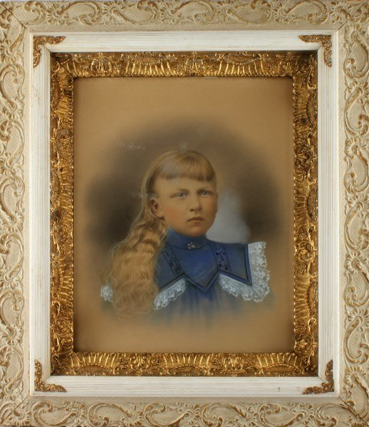 19TH OR EARLY 20TH CEN. PORTRAIT OF A GIRL