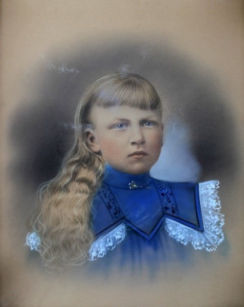 19TH OR EARLY 20TH CEN. PORTRAIT OF A GIRL - 2