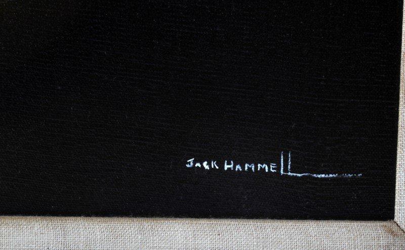 ORIGINAL OIL ON CANVAS JACK HAMMELL FLORAL STILL - 4