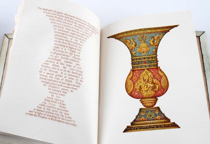 VINTAGE DECORATED THE HAGGADAH IN ORIGINAL BOX - 4