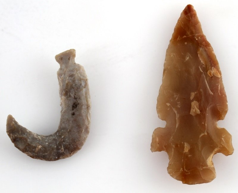 LOT OF 3 EXOTIC ECCENTRIC ARROWHEAD POINTS - 2
