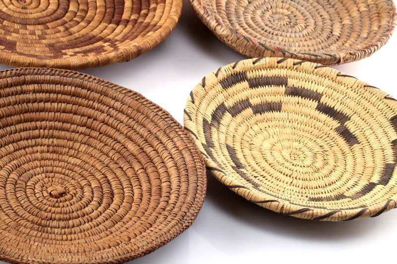 5 NATIVE AMERICAN INDIAN COIL BASKETS - 3