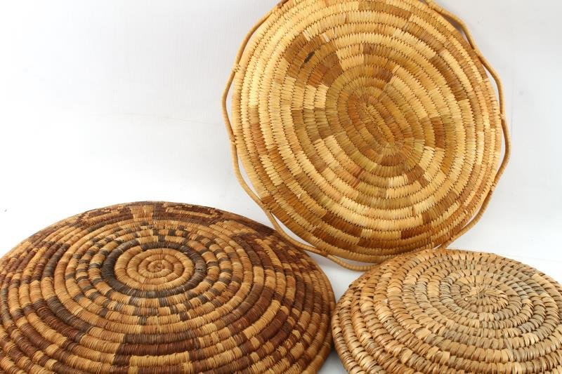 5 NATIVE AMERICAN INDIAN COIL BASKETS - 4
