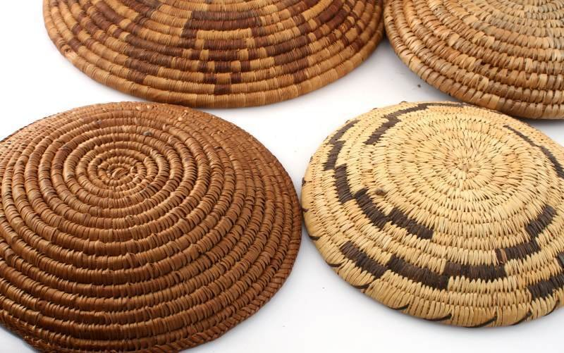 5 NATIVE AMERICAN INDIAN COIL BASKETS - 5