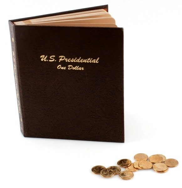 US PRESIDENTIAL DOLLAR COLLECTION ALBUM & SINGLES