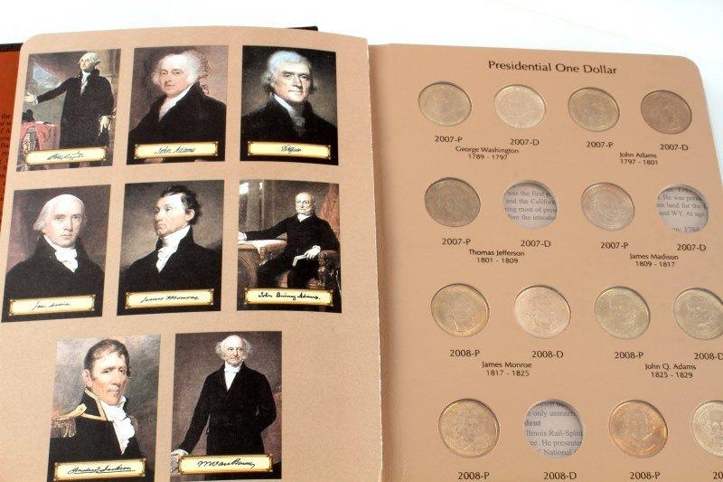 US PRESIDENTIAL DOLLAR COLLECTION ALBUM & SINGLES - 3