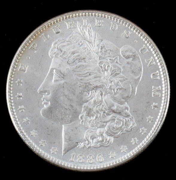 1886 MORGAN SILVER DOLLAR BU UNCIRCULATED