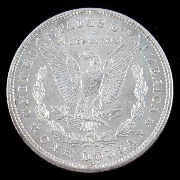 1921 MORGAN SILVER DOLLAR $1 COIN BU UNC - 2