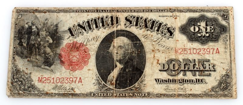1917 SERIES LARGE SIZE U.S. NOTE RED SEAL