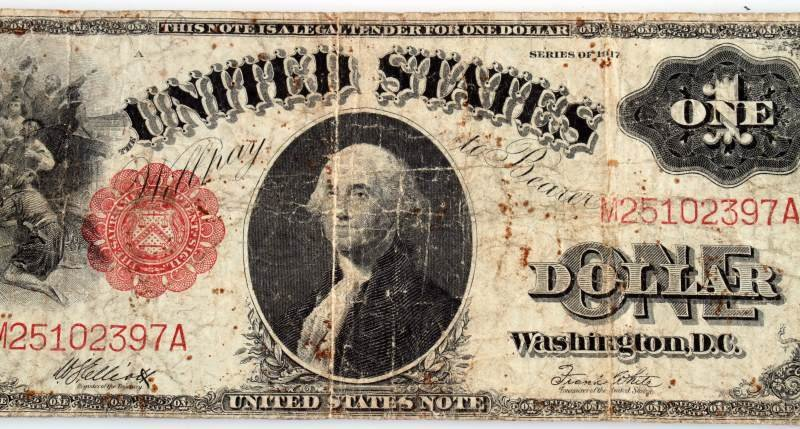 1917 SERIES LARGE SIZE U.S. NOTE RED SEAL - 2
