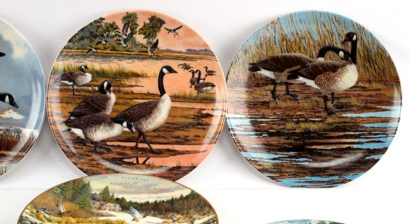 LOT OF 8 KNOWLES & DOMINION CHINA BIRD PLATES - 2