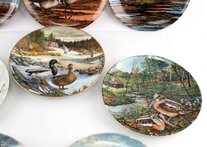 LOT OF 8 KNOWLES & DOMINION CHINA BIRD PLATES - 3