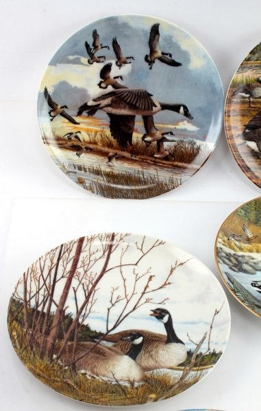 LOT OF 8 KNOWLES & DOMINION CHINA BIRD PLATES - 5