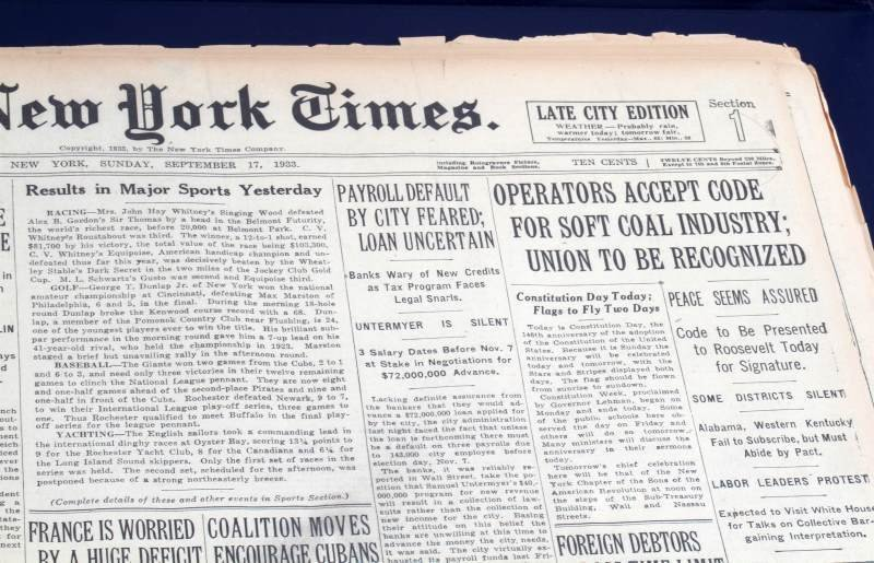 HISTORIC NEWSPAPER ARCHIVES THE NEW YORK TIMES - 3