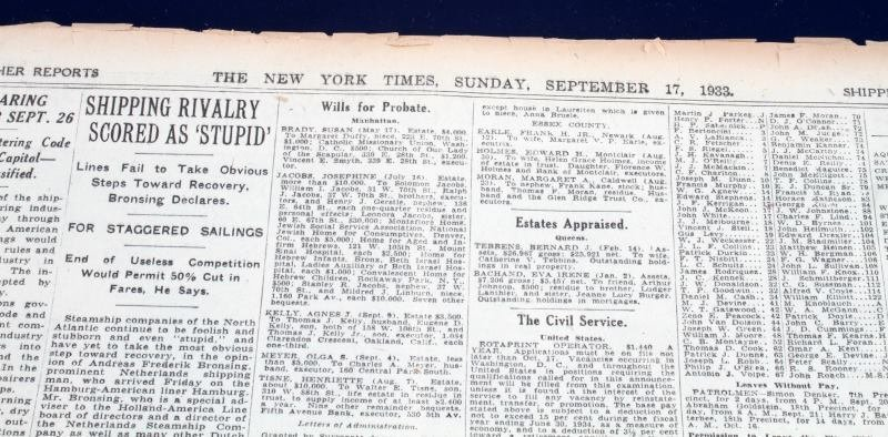 HISTORIC NEWSPAPER ARCHIVES THE NEW YORK TIMES - 4