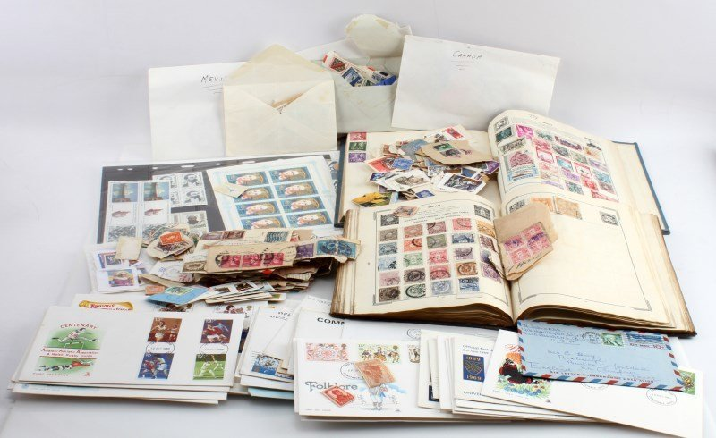 WORLD STAMP COLLECTION 100'S OF STAMPS