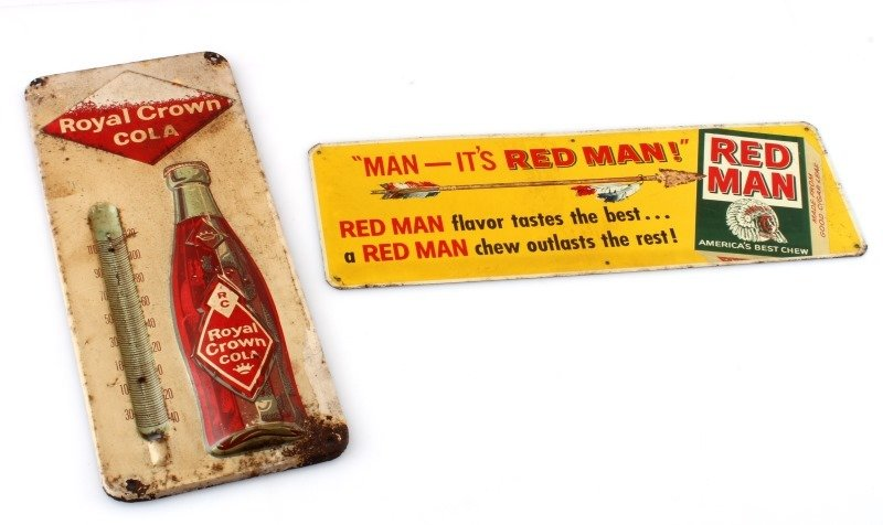 REDMAN TOBACCO & RC COLA  ADVERTISING SIGNS