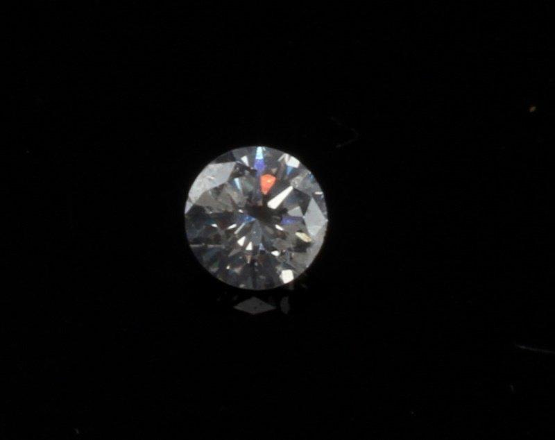 ROUND BRILLIANT CUT .2 CARAT LOOSE DIAMOND - 3