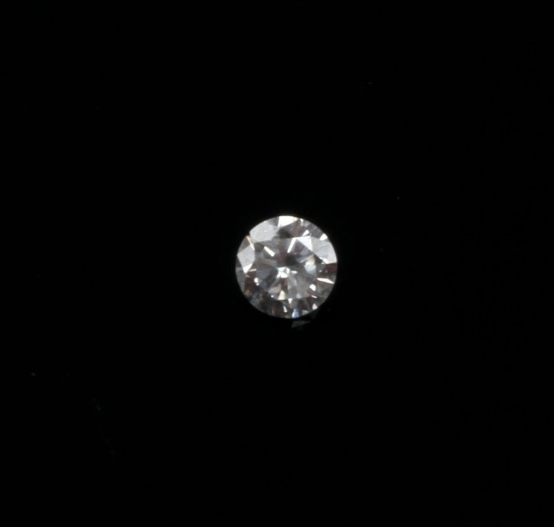 ROUND BRILLIANT CUT .18 CARAT LOOSE DIAMOND - 3