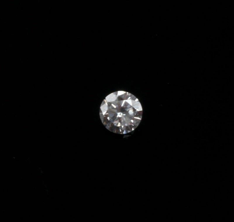 ROUND BRILLIANT CUT .18 CARAT LOOSE DIAMOND - 3