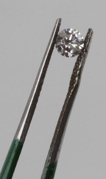 ROUND BRILLIANT CUT .18 CARAT LOOSE DIAMOND - 4