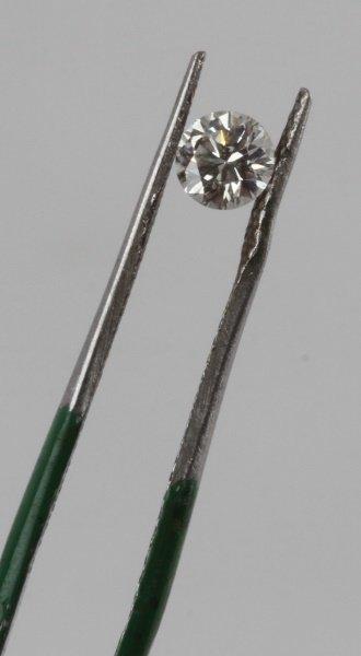 ROUND BRILLIANT CUT .32 CARAT LOOSE DIAMOND - 5