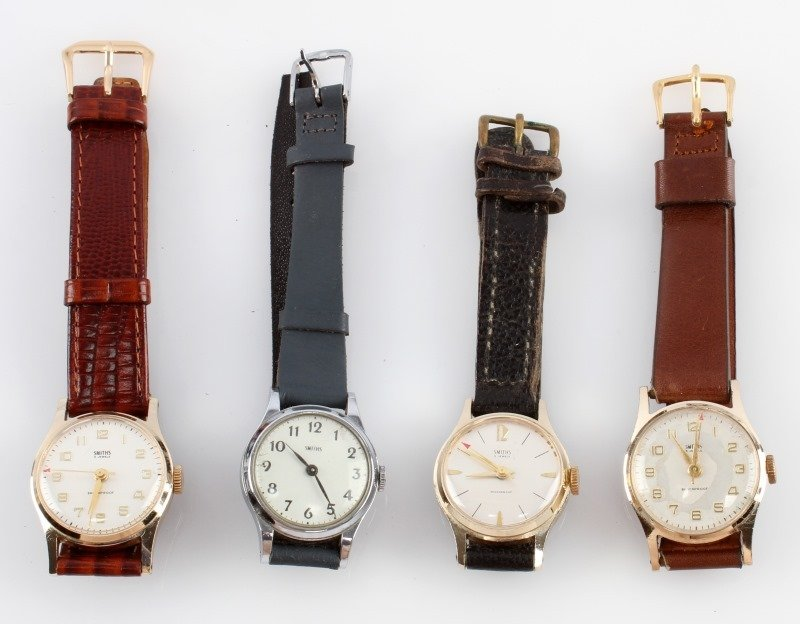 LOT OF FOUR VINTAGE SMITHS MECHANICAL WATCHES