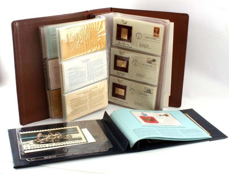 GOLDEN REPLICA OF US STAMPS & ROYAL INT COLLECTION