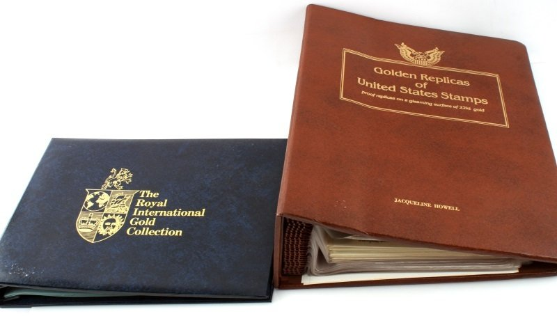 GOLDEN REPLICA OF US STAMPS & ROYAL INT COLLECTION - 7