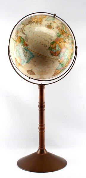 VINTAGE GLOBE WITH FLOOR STAND WORLD CLASSIC EARTH