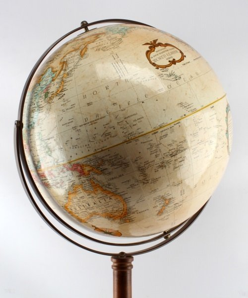 VINTAGE GLOBE WITH FLOOR STAND WORLD CLASSIC EARTH - 3