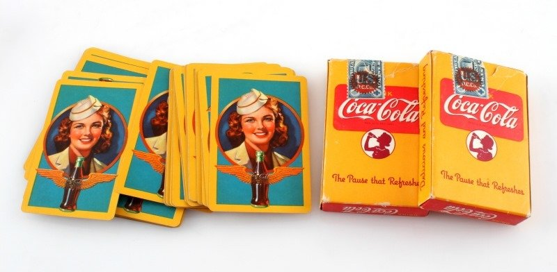 3 COMPLETE 1943 COCA COLA DECKS OF PLAYING CARDS