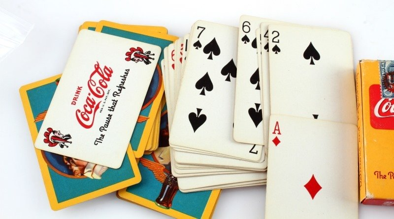 3 COMPLETE 1943 COCA COLA DECKS OF PLAYING CARDS - 2