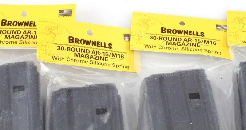 LOT OF FIVE BROWNELLS 30-ROUND AR15/M16 MAGAZINE - 2