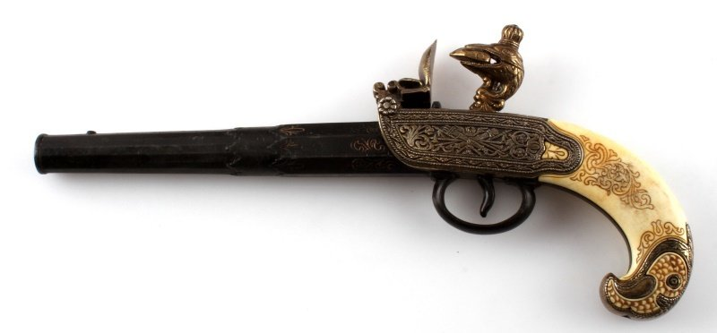 REPLICA 1790 RUSSIAN TULA FLINTLOCK PISTOL - 4