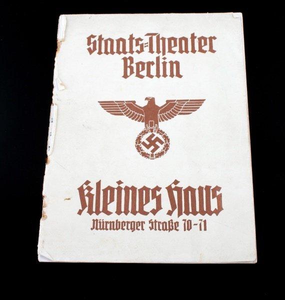 GERMAN THIRD REICH THEATRE PROGRAM BERLIN