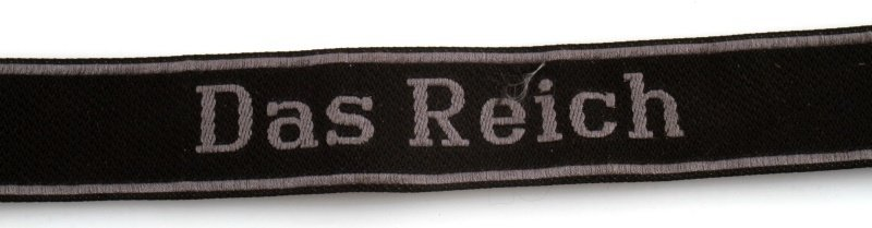 WWII GERMAN THIRD REICH DAS REICH CUFF TITLE - 2