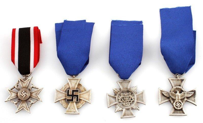 4 GERMAN WWII THIRD REICH CROSSES