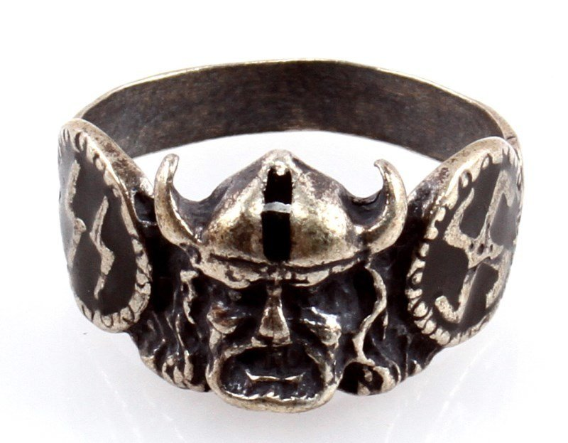 GERMAN WWII WAFFEN SS DIVISION VIKING SILVER RING