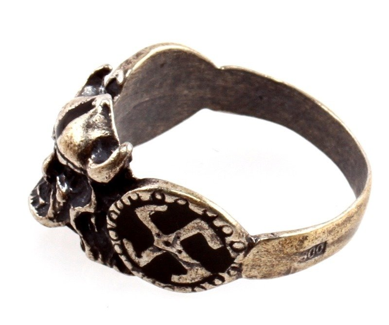 GERMAN WWII WAFFEN SS DIVISION VIKING SILVER RING - 2