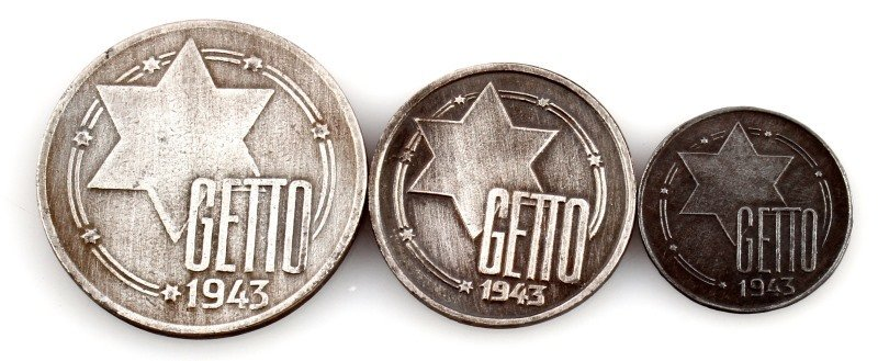3 COINS FROM LITZMANNSTADT GHETTO