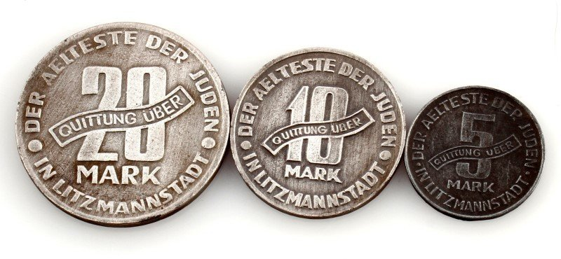 3 COINS FROM LITZMANNSTADT GHETTO - 2